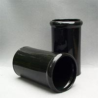 A solid glaze, plain ceramic wine cooler, manufactured in a black glaze